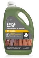Wood washing product